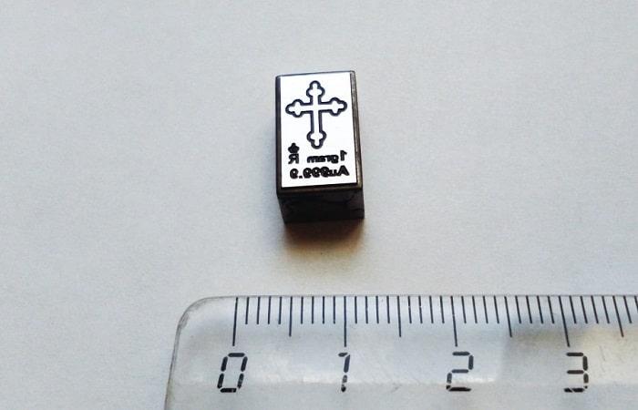 штамп крестика