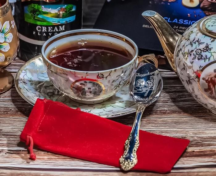 чай ложка гравировка